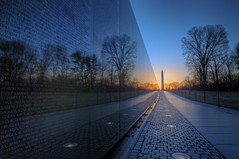 Another Shot Of The Vietnam Memorial Wall (It's my whole damn raison d'etre) Tags: morning alex wall sunrise mall dawn washington nikon memorial war day district magic columbia vietnam clear national hour hdr veterans d300s regionwide erkiletian