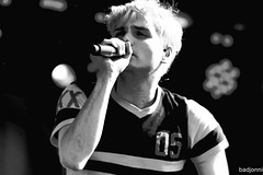 Gerard Way - My Chemical Romance (badjonni) Tags: bw music film rock way scan singer gerard mychemicalromance bigdayout mcr bdo