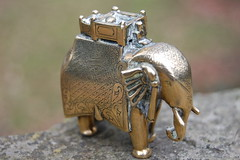 Elephant  with Mahout. (TREASURES OF WISDOM) Tags: old whatisthis elephant mystery museum wow wonderful nice fantastic nikon treasure view magic like exhibition collection figure unknown longevity unusual vibes wisdom devotee artifact hinduism brilliant himalayan wealth artefact unseen mythical finearts intresting indianbronze wisdomfromtheeastwisdomfromthewest mortyhindu