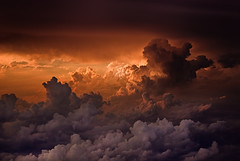Deviation (Jose Rentera Cobos) Tags: sunset sky sun color sol clouds skyscape landscape pentax nimbus colores cielo nubes cumulus cb k10d