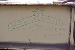 hollywood (Wizard Fight) Tags: wood b train bench graffiti paint streak bum holly hollywood stick mean hobo freight tramp meanstreak markal moniker paintstick benching paintstik