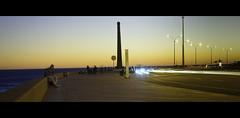 Rambla de Mvd II (wesp2011) Tags: sunset canon lights shore montevideo ocaso rambla 550d t2i