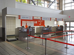 Antonio B. Won Pat International Airport  // Check In Counters (Ricardobtg) Tags: b lines gum tokyo airport air cosina pat voigtlander dal ab delta olympus m international antonio won dl nokton guam narita 43 omd 175 tyo nrt m43 175mm em5 pgum