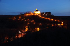 Wartburg Castle at Night *2013* (tobfl) Tags: castle germany thringen thuringia bach luther wartburg eisenach