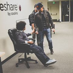 Friday nights (Sensaet) Tags: office company startup paloalto siliconvalley app photosharing cooliris photosha