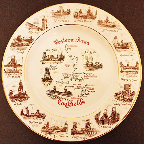 NCB Western Area commemorative plate