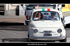 Italy - Welcome to Italy (Frdric Salle) Tags: italie italy italia italian women lady girl voiture car canon canoneos7d route road city center ville street streetscene streetshot streetphotography streetlife rue ruelle scnederue photoderue travel voyage fiat turin torino light lights piemont pimont ancien ancient welcome sourire smile white lovers lover salut amoureux amour escapade urban atmosphere