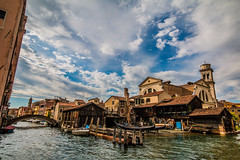 Boat repair (ArtinArt) Tags: venice italy love city water canals houses sticks