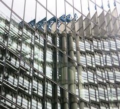Lloyds Reflection (surreyblonde) Tags: lloyds building glass reflection london office city reflections