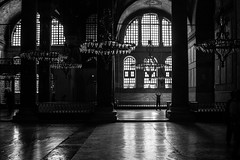 In the presence of living history / anything to get a picture (zgr Grgey) Tags: 2016 35mm bw d750 darkcity hagiasophia nikon samyang unesco worldheritagesites alone architecture istanbul