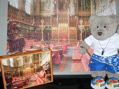 It looks like a church, but it ain't! (pefkosmad) Tags: jigsaw puzzle leisure hobby pastime tedricstudmuffin ted teddy bear soft toy stuffed plush fluff thehouseoflords