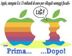 TorsolApple (Moise-Creativo Galattico) Tags: editoriali moise moiseditoriali editorialiafumetti giornalismo attualit satira vignette apple mela multa ue