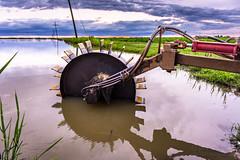 (jciv) Tags: file:name=dsc09780 crawfish crawfishboat wheel boat water crawfishpond