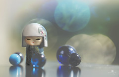 adored (rockinmonique) Tags: miniature kimmidoll bokeh blue bubble girly pretty reflections light shadow whimsical marbles moniquew canon tamron copyright2016moniquewphotography
