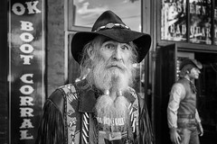 Cowboy (johnjackson808) Tags: fujifilmxt1 gastown vancouver bw blackandwhite busker cowboy monochrome people streetphotography