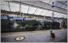 Remember When.... (Jim the Joker) Tags: stanier coronationclass duchessofsutherland 46233 steam heritagerailways cumbrianmountainexpress cme crewe railwaystation railtour train