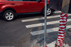 Untitled (constantiner) Tags: streetphoto               street streetphotography tomsk tomskayaoblast vehicles car city citywalks urban urbanism urbanexploration road outdoor daytime daylight warmday summer summer2016 composition stripes red objects siberia ru russianfederation russia pentax pentaxk3 sigma sigmaart sigmaart35mm 35mm