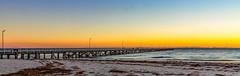 Semaphore Jetty (johnwilliamson4) Tags: blue jetty panorama sky southaustralia sunset watersemaphore orange adelaide australia