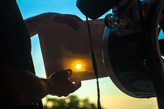 _MG_6924 Master piece. (Sakuto) Tags: sunrise sun sunbeam colors colorful optic optical mirror mirrors rorrim green blue light shadow dark sky telescope newton dof blur newtonian newtoniantelescope