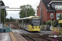 Manchester Metrolink 3008 (Luke Bowman's photography) Tags: manchester metrolink 3008 bombardier flexity m5000 navigation road