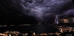 Montreux clairs (Alexandre Gugler) Tags: omd em10 montreux suisse lman night nuit clairs orage thunderbolt thunderstorm