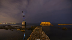 Dead end (svg74) Tags: baliza mlaga night nocturna noche espign beach playa mediterrneo mediterraneansea seascape sea