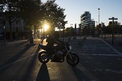 Moto - Rennes - Sylvain Brajeul  (Sylvain Brajeul) Tags: 2016 illeetvilaine jeannouvel lavilaine placedebretagne pontdebretagne rns rennes roazhon breizh bretagne centreville france fuji fujixe2 immeuble moto rue streetphotography sylvainbrajeul mailfranoismitterand pniche