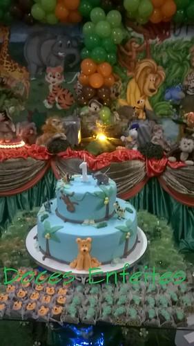 Festa Mickey Safari (bolo decorado)