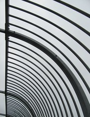 Curved lines (rbjag71) Tags: curvedlines steel urban abstract pedestrian footbridge glasgow canonpowershot sx610hs