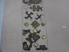 Fragments of a 12thC Slav collar with Swastikas,  Ukraine (CultureWise) Tags: swastika ukraine archaeology ancientgreek symbols bronzeage medieval