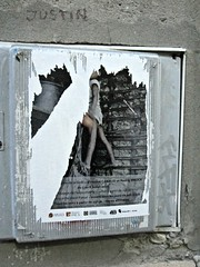 (AmyEAnderson) Tags: outdoor poster wall arles france bouchesdurhone provence alley torn square paper
