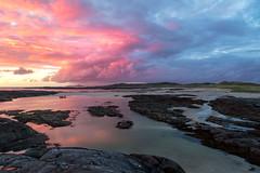 Sunset at Sanna Bay (emperor1959 www.derekbeattieimages.com) Tags: sannabay ardnamurchan ardnamurchanpeninsula scotland bay coast rocks sunset boat clouds rum rhum skye highlands sanna landscape reflections