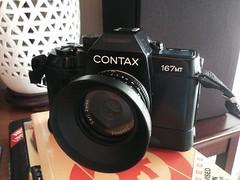 Contax 167MT - Carl Zeiss 45mm f2.8 (jcbkk1956) Tags: camera tessar 45mmf28 carlzeiss analog film 35mm manual slr 167mt contax black