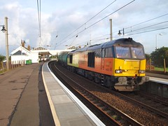 Troon -  23-09-2016 (agcthoms) Tags: scotland ayrshire troon trains railways colas class60 60021