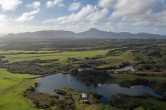 Kauai - O'er the Plain (Christopher Lane Photography) Tags: travel sky mountains green water beautiful river landscape jack island hawaii bucket scenery heaven day tour cloudy gorgeous air flight falls helicopter journey list kauai stunning flowing lush pilot jurassic thrill harter