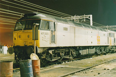 47223 (marcus.45111) Tags: night 1993 depot essex colchester duff rfd class47 47223 stabled ukbuilt classictraction tinsleyloco