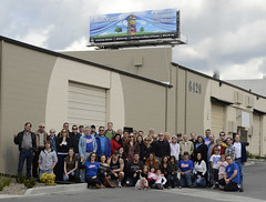 Group Photo with New Billboard (Skeptical Deb) Tags: allen atheism billboard debbie humanism americanatheists atheistbillboard sdcor sandiegocoalitionofreason