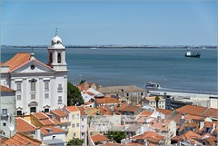 A beautiful view | Lisbon, Portugal (Stefan Cioata) Tags: ocean city travel roof vacation holiday seascape detail portugal church beautiful site nikon scenery europe ship cityscape lisboa exploring details scene stefan roofs explore getty destination d800 oceanscape touristical liscon cioata flickrandroidapp:filter=none