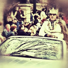 It's good to be King! (Pfish44) Tags: king mardigras rockin thefuturessobrightigottawearshades iphoneography iphone4s snapseed uploaded:by=flickrmobile flickriosapp:filter=nofilter