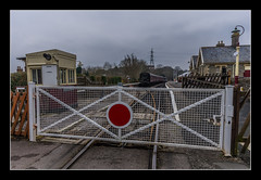 View of Bitton Station from the Level Crossing (Travels with a dog and a Camera :)) Tags: uk england southwest west art heritage station digital photoshop dc crossing pentax unitedkingdom south sigma railway trains level valley 1020mm avon febuary 43 k5 bitton lightroom levelcrossing avonvalleyrailway cs6 2013 1456 heritagerailway justpentax sigma1020mm1456dc pentaxart pentaxk5 photoshopcs6 lightroom43