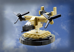 mini V22 Osprey on Larry Lars base (Florida Shoooter) Tags: v22osprey modernmilitary larrylars minilego