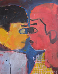 primary eye contact (tessar lo) Tags: eye love painting eyecontact paintings lovers blinding contact february 2013 tessarlo