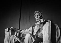 Lincoln Memorial Sunset (BeetleBrained) Tags: blackandwhite bw monument monochrome statue photoshop dc washington nikon abraham national lincoln marble nikkor bnw abrahamlincoln cs5 silverefexpro
