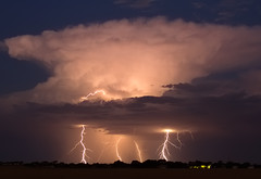 Last nights storm between Kadina and Alford (Trace Connolly) Tags: longexposure sunset storm canon landscape australia lightning southaustralia nightscapes thunderstorms coppercoast