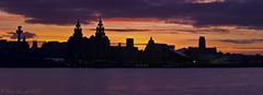 Liverpool skyline sunrise panoramic (Paul-Farrell) Tags: skyline liverpool river pier head cathedrals panoramic mersey liverbuildings radiocitytower