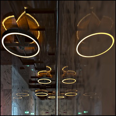 O|O (Maerten Prins) Tags: new reflection building amsterdam wall modern court lights justice o circles palace symmetry round lamps marble van paleis upshot marmer justitie