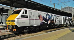 East Coast DVT No. 82231 at Newcastle in Skyfall 007 Bond Livery 1E13 Edinburgh to Kings Cross - 17th February 2013. (allan5819 (Allan McKever)) Tags: uk travel england film station train newcastle gun transport central rail railway bond express passenger northeast tyneside 007 highspeed eastcoast jamesbond dvt livery mainline ecml skyfall 91007 82231 1e13