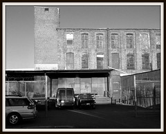 Frankford (BlogKing) Tags: bw orange philly lomoish industrialheritage
