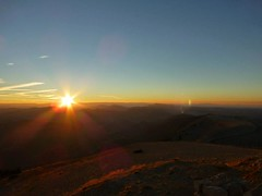 Sun starting to climb into the sky (Goldfishrok) Tags: montventoux