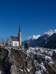 Scuol (Miloš R.) Tags: mountains church engadin scuol